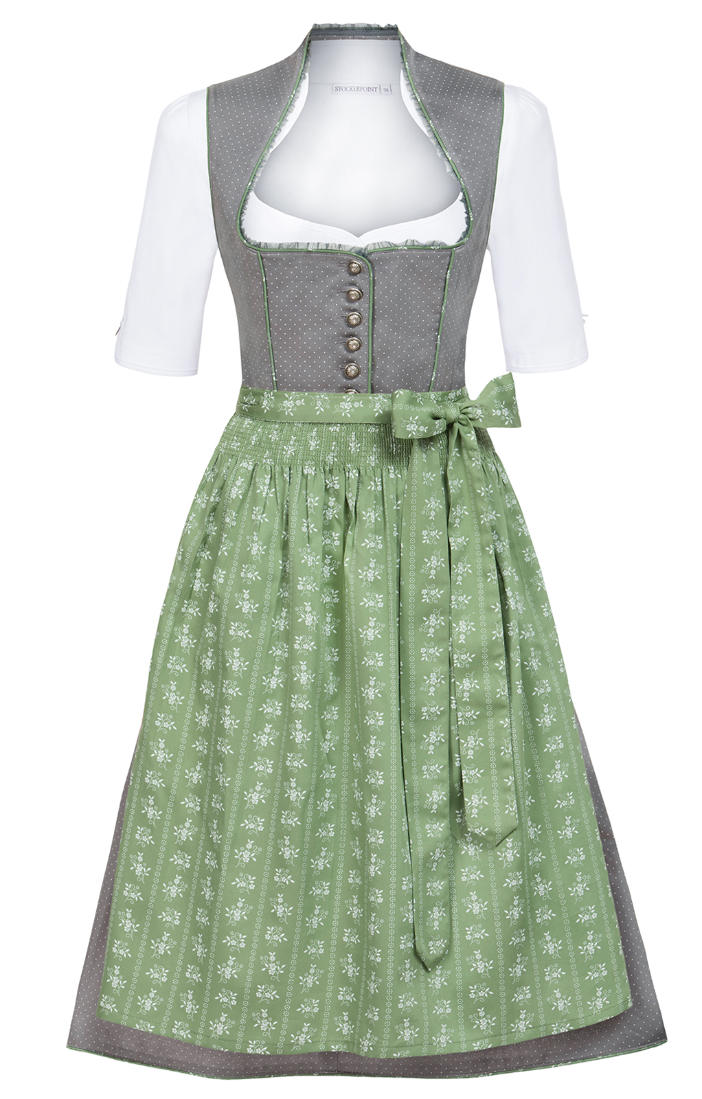 mididirndl 2tlg 65cm romana grau gr n mididirndl 60cm dirndl damen winkler tracht online. Black Bedroom Furniture Sets. Home Design Ideas