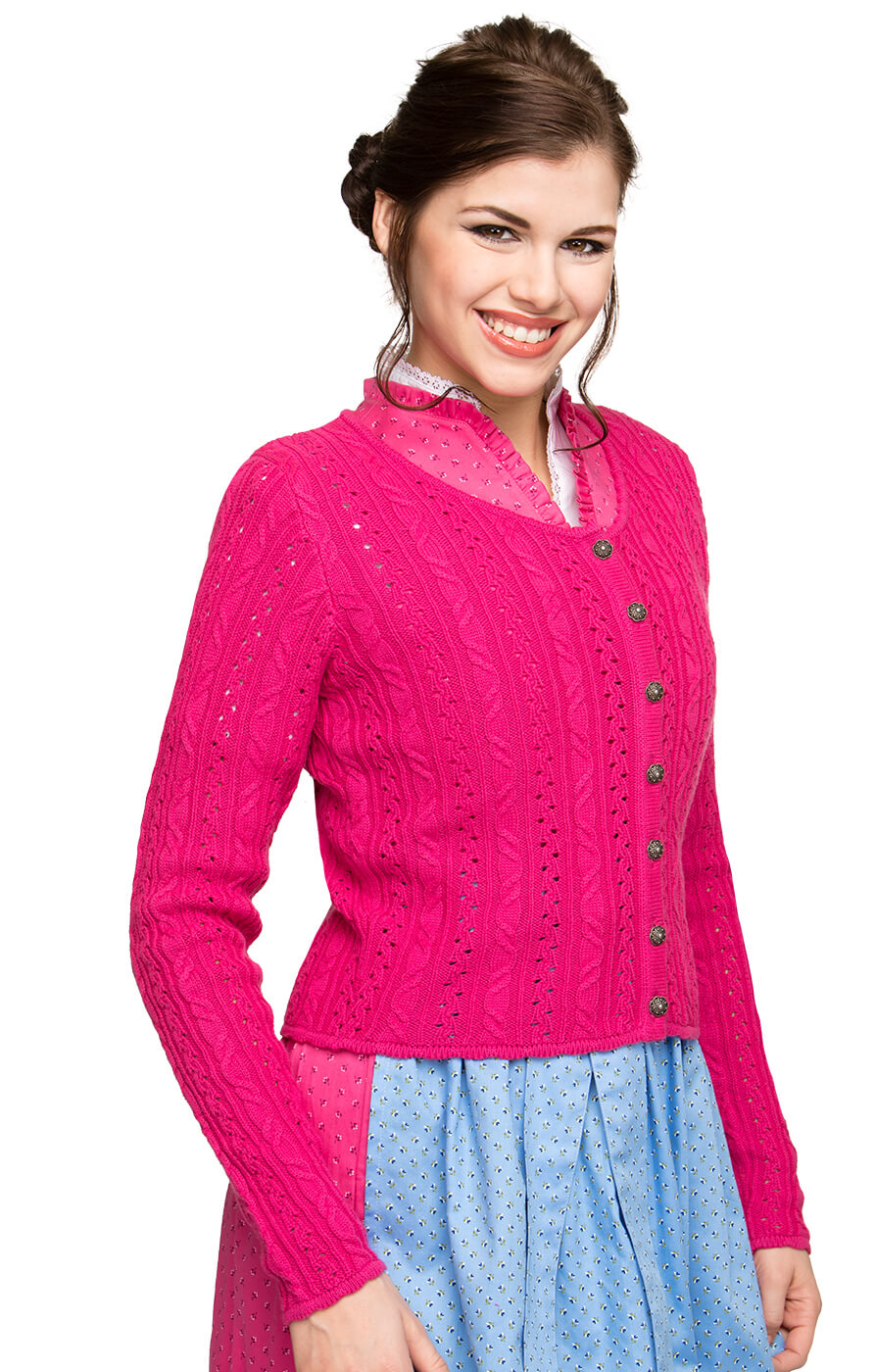 Strickjacke Liz pink von Stockerpoint